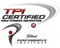 Titleist Perfomace Institute TPI Certiefied glof fitness instructor logo